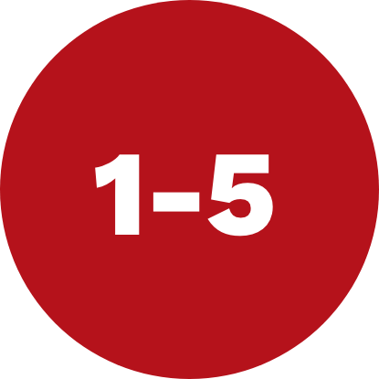 Icon with 1-5
