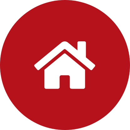 Icon with house in the middle