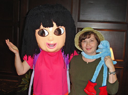 Dora the Explorer & Tracey Wilson greeted Gabby